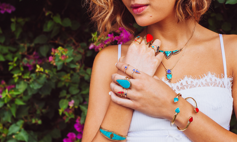 Karen london jewelry bohemian gold dust collection