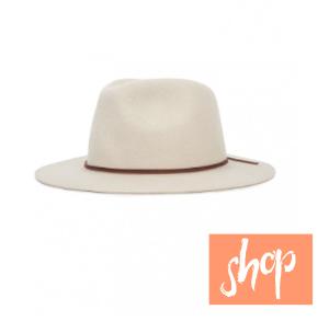 Brixton Westley Fedora in Bone via Blue Eyed Girl