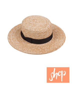 Lack of Color The Spencer Boater Hat via Blue Eyed Girl