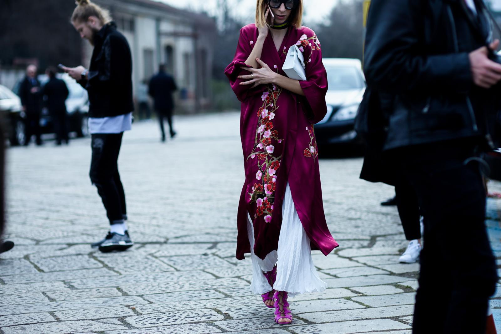 trending silk robe coat