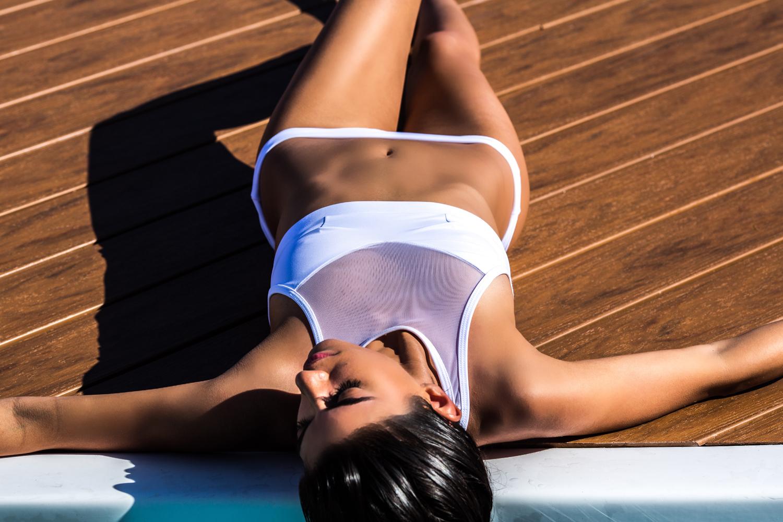 Kacey|Shana Capri bikini in white
