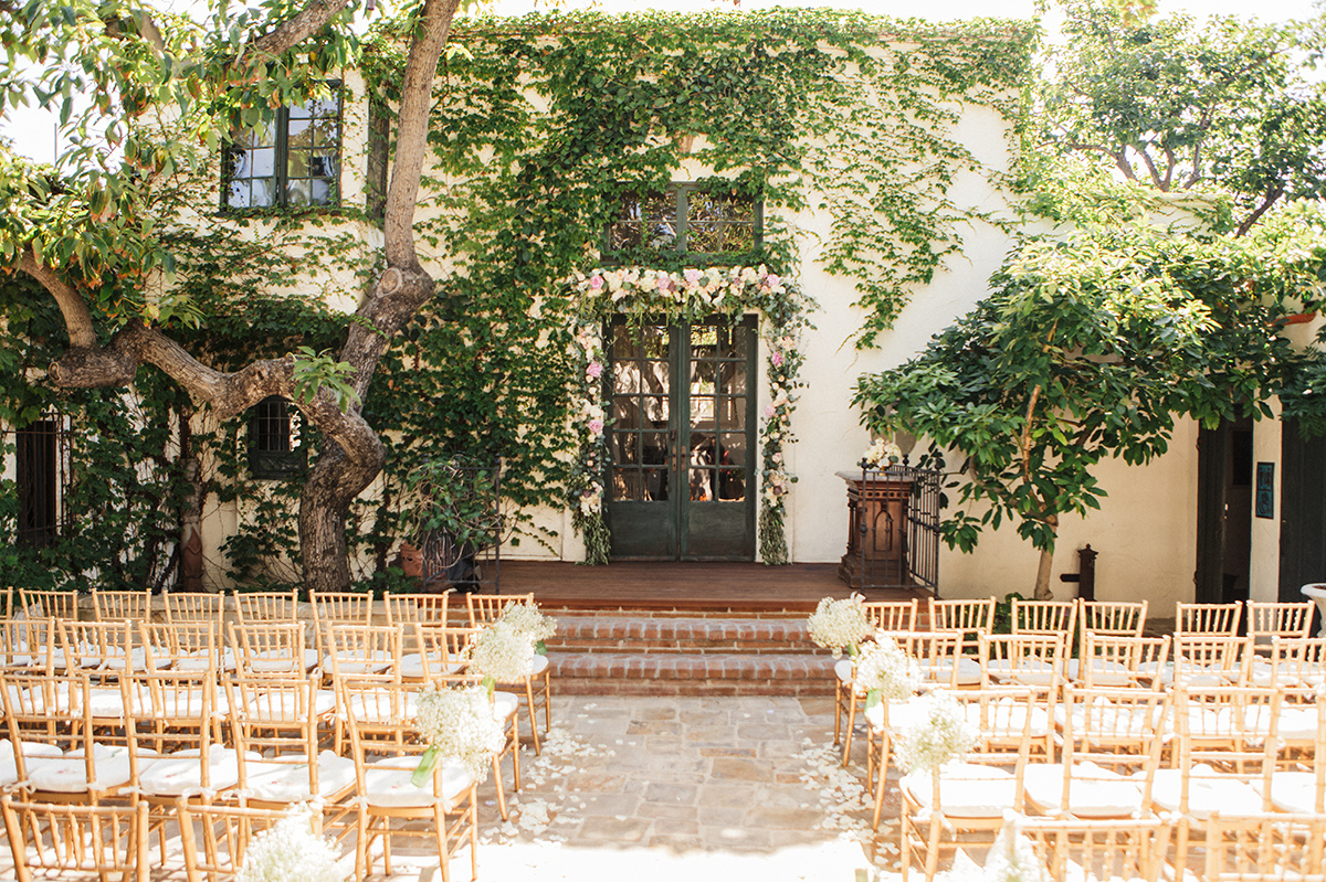 French Door Ceremony Spot At The Villa San Juan Capistrano