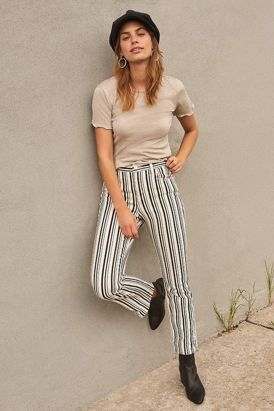 965dbd1857b Striped outfits are timeless. We re loving black and white striped pants.  They