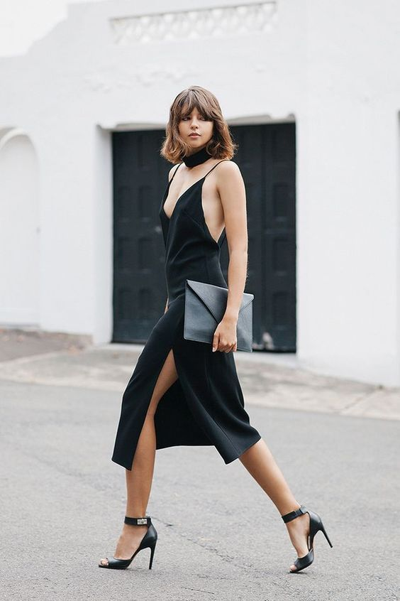 16cbfdbc6ae0 How to Style your Black Slip Dress when the Party's Over