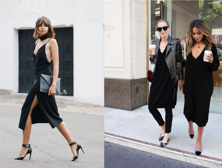 5583c74b9886 How to Style your Black Slip Dress when the Party's Over